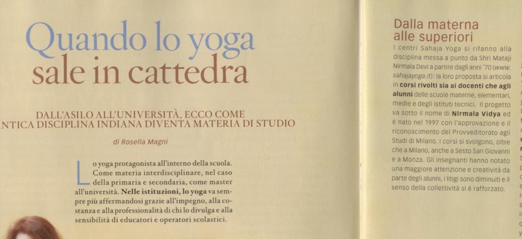 Sahaja Yoga Journal - meditare a scuola